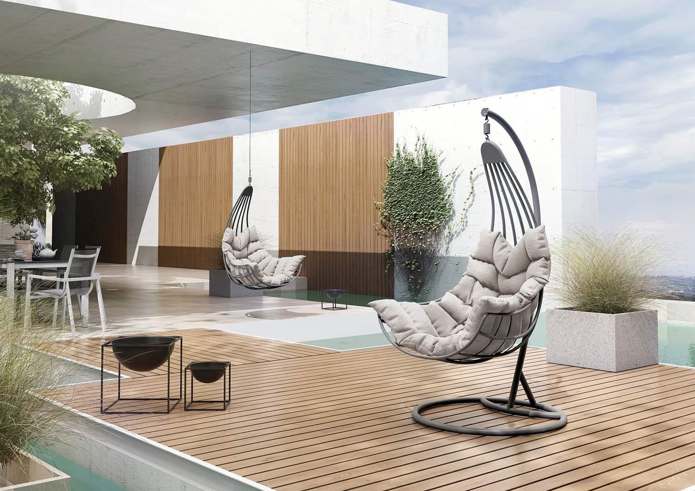 fotel na balkon huśtawka Malaga