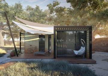 Huśtawka ogrodowa MALAGA STONE&WOOD