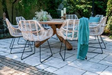 zestaw mebli ogrodowych z parasolem: Meble ogrodowe BORDEAUX I