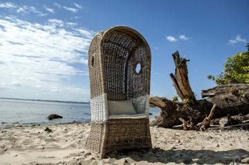 ekskluzywne meble: Kosz rattanowy plażowy ST TROPEZ