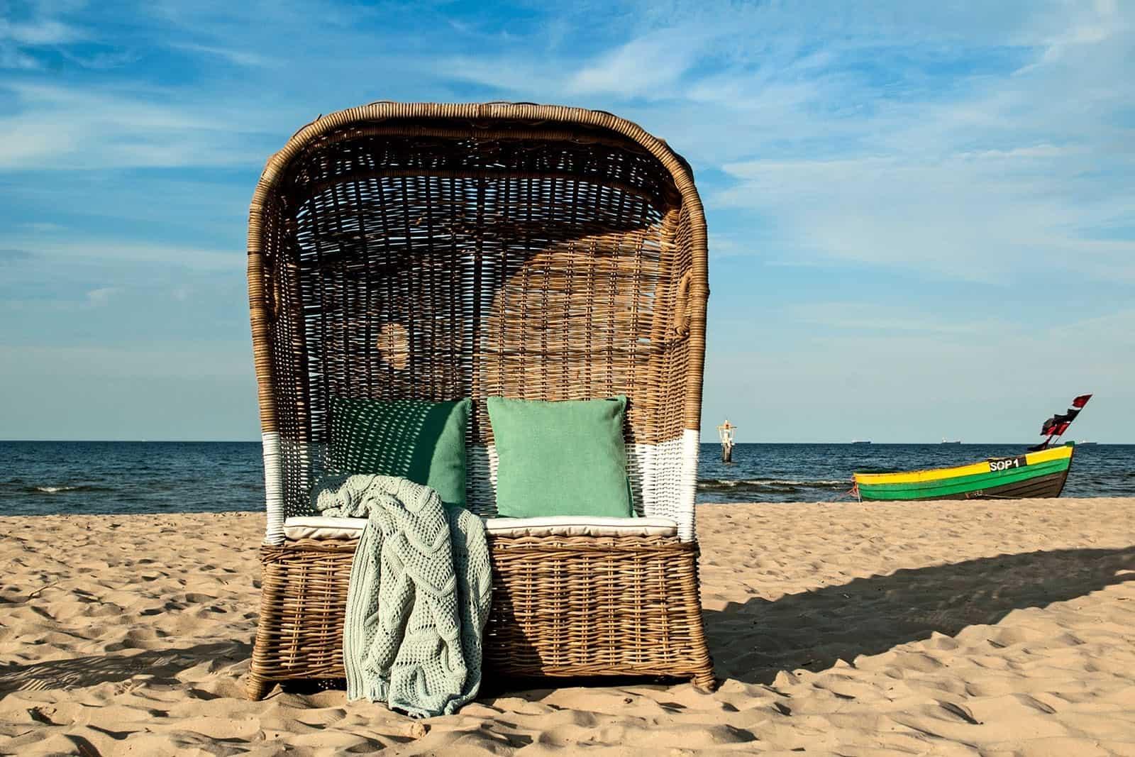 kosze rattanowe plażowe