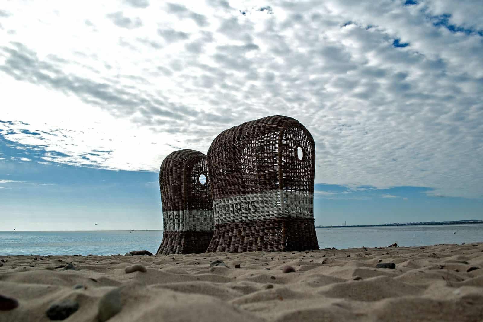 Kosz rattanowy plażowy ST TROPEZ DUO