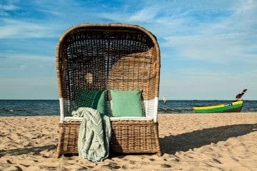 ekskluzywne meble: Kosz rattanowy plażowy ST TROPEZ DUO