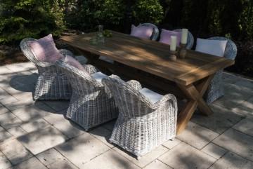 zestawy ogrodowe z rattanu: Meble ogrodowe LYON V
