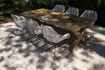 zestaw mebli ogrodowych z parasolem: Meble ogrodowe LYON VII