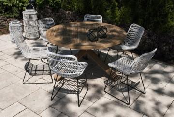 zestaw mebli ogrodowych z parasolem: Meble ogrodowe BORDEAUX VII