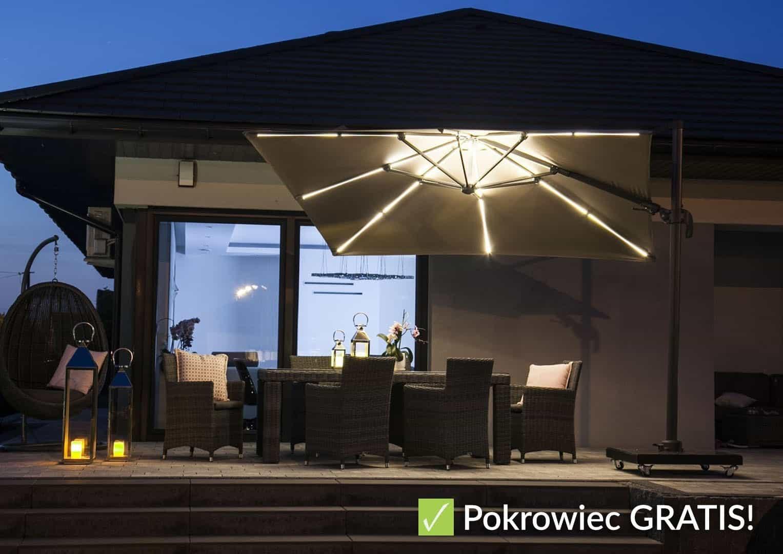 Parasol ogrodowy Solarflex T² 3 x 3  GLOW