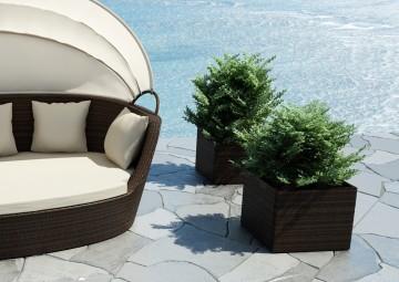 Donica ogrodowa RUBIC Modern brąz