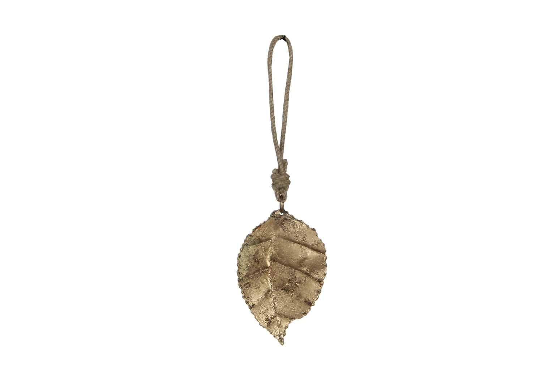 Zawieszka złoty liść