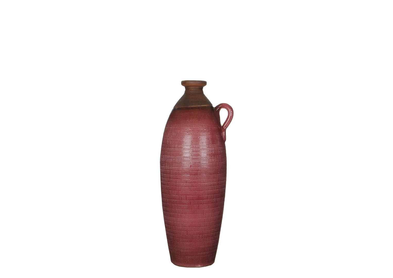 Butelka z terakoty czerwona