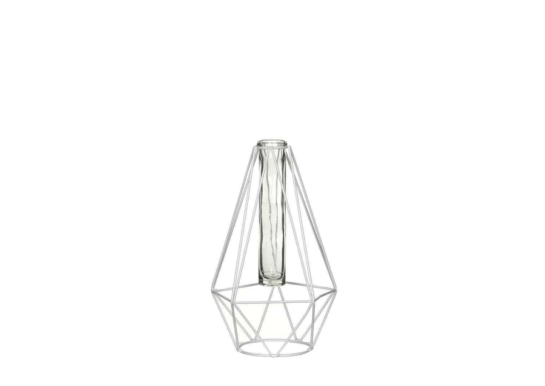 Świecznik biały 24cm