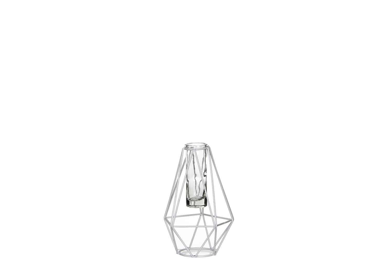 Świecznik biały 17cm