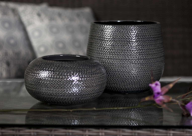 Naczynie ceramiczne szare 60cm