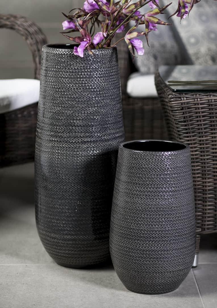 Naczynie ceramiczne szare 35cm