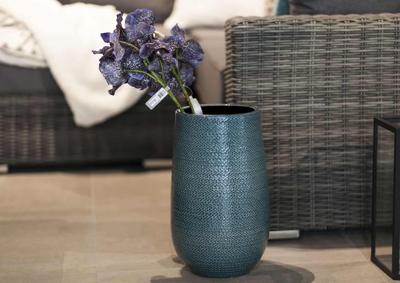 Naczynie ceramiczne niebieskie 35cm