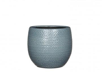 Naczynie ceramiczne niebieskie 16cm