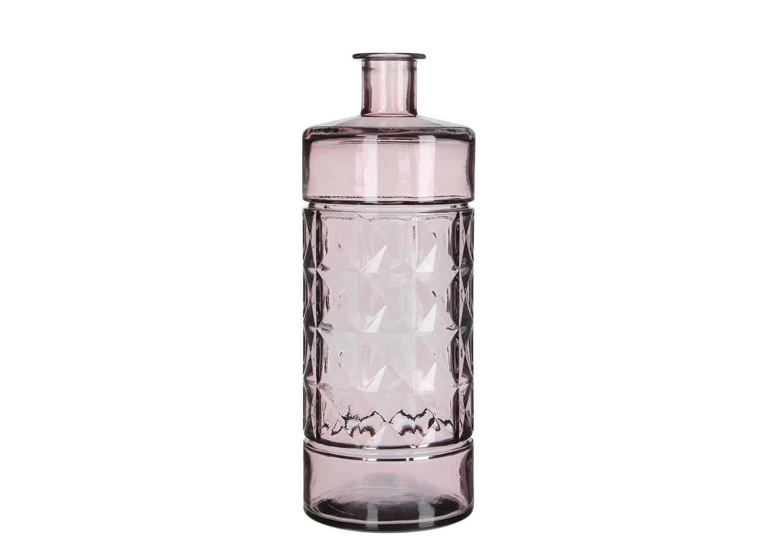 Butelka/naczynie szklane jasnoróżowe 40cm