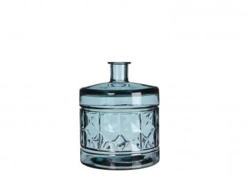 Butelka/naczynie szklane jasnoniebieske 26cm