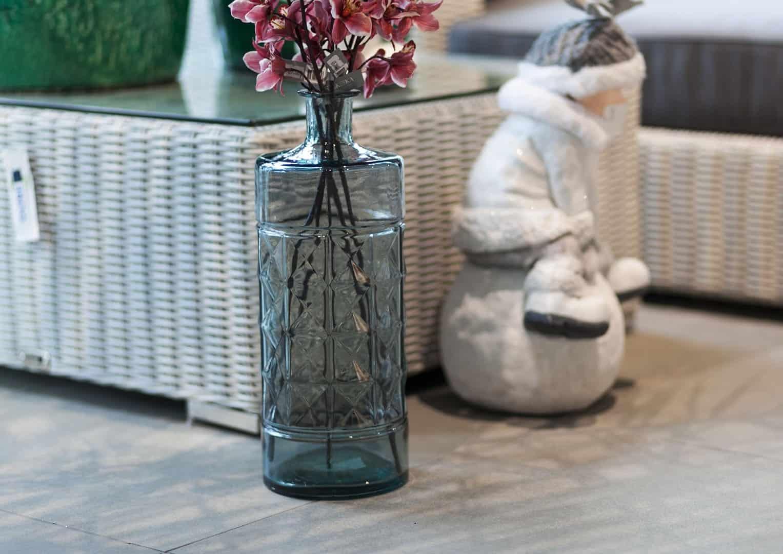 Butelka/naczynie szklane jasnoniebieske 40cm