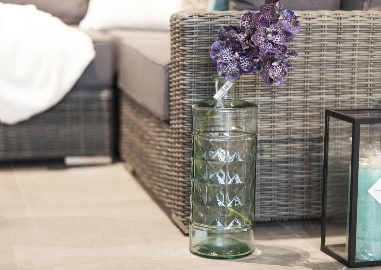 Butelka/naczynie szklane przezroczyste 40cm