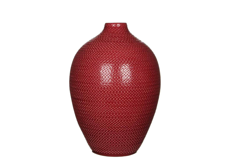 Butelka/naczynie ceramiczne 36cm bordowa