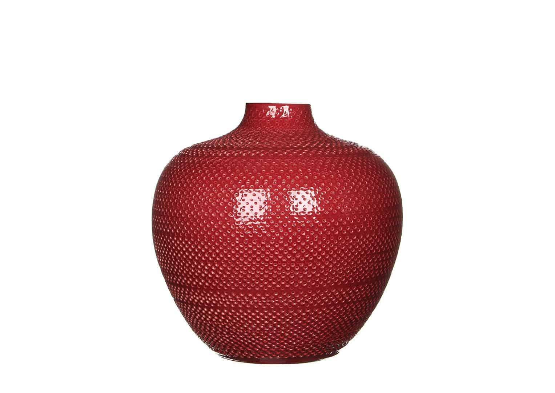 Butelka/naczynie ceramiczne bordo 25cm bordowa