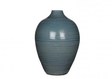 Butelka/naczynie ceramiczne 36cm niebieska