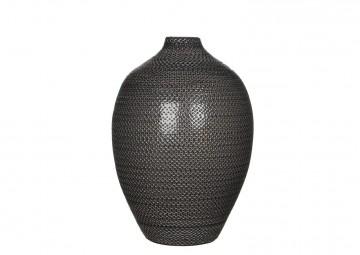 Butelka/naczynie ceramiczne 36cm szara