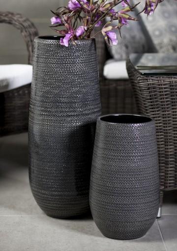Butelka/naczynie ceramiczne szary XL 25cm