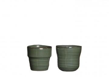 Naczynie ceramiczne szare 7,5cm