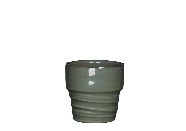 Naczynie ceramiczne szare 10cm