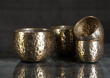 Tealight złoty 9cm