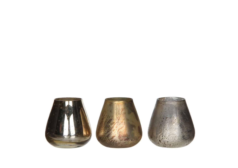 Zestaw świeczników champagne 8cm