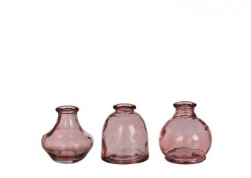 Naczynie szklane różowe ⌀7cm