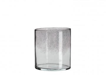 Waza szklana czarna ⌀19cm