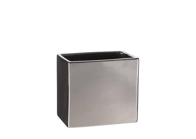 Naczynie ceramiczne srebrne