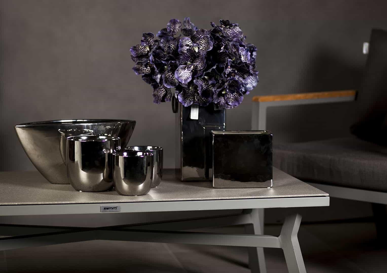 Naczynie ceramiczne srebrne 11,5cm