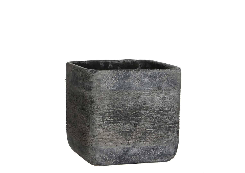 Naczynie z cementu ciemnoszare 18cm