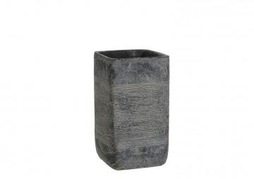 Naczynie z cementu ciemnoszare 22cm