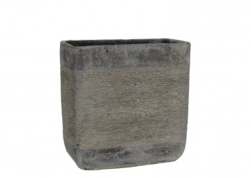 Naczynie z cementu ciemnoszare 28cm