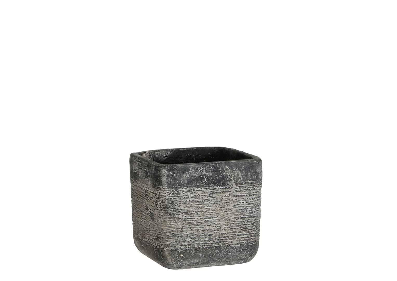 Naczynie z cementu ciemnoszare 9cm