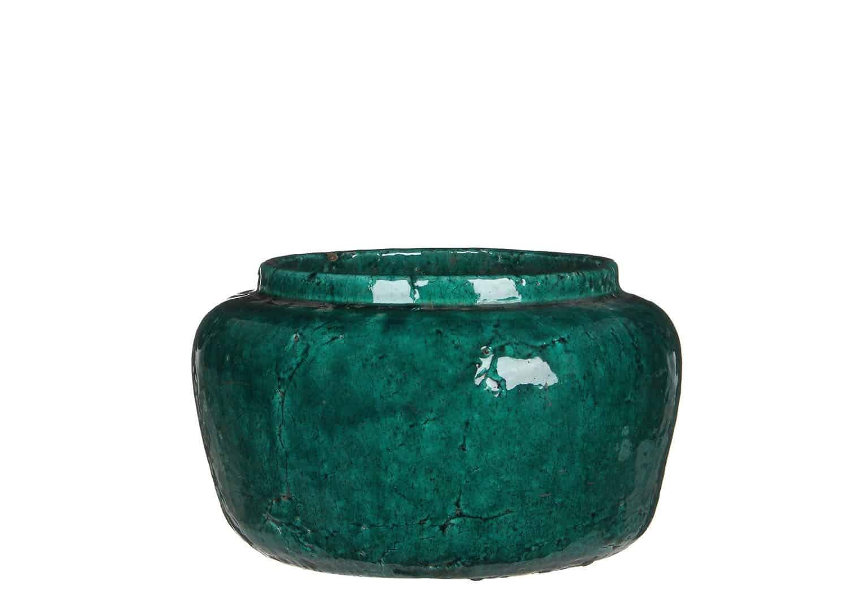 Waza z terakoty zielona ⌀31,5cm