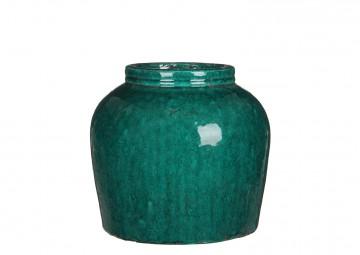 Waza z terakoty zielona ⌀30cm