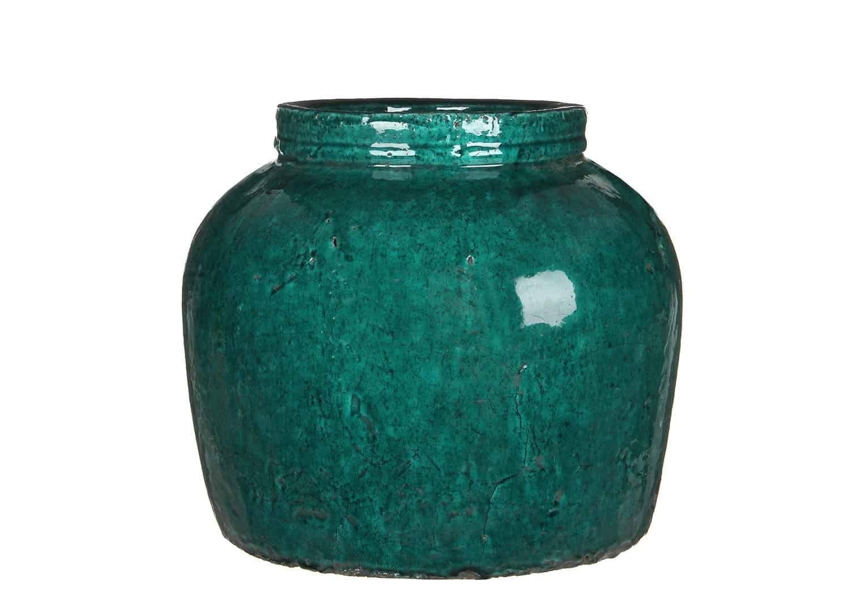Waza z terakoty zielona ⌀36cm
