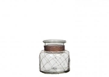Naczynie szklane miedziane
