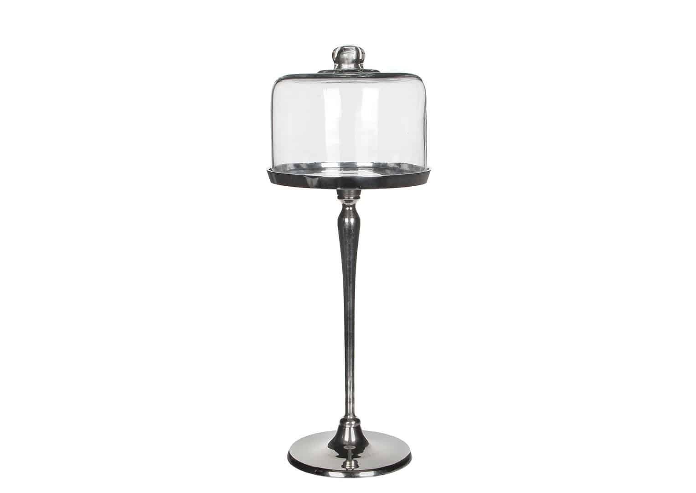 Pokrywa szklana z aluminiową podstawą 42cm