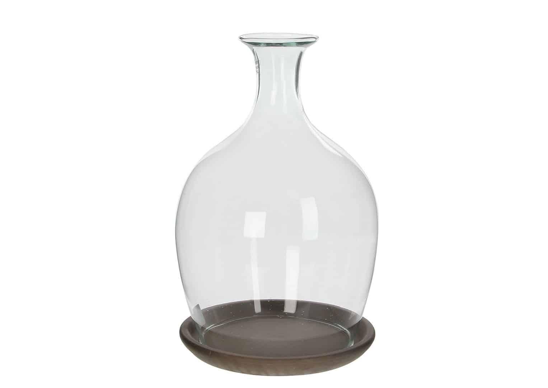 Podstawka z pokrywą szklaną