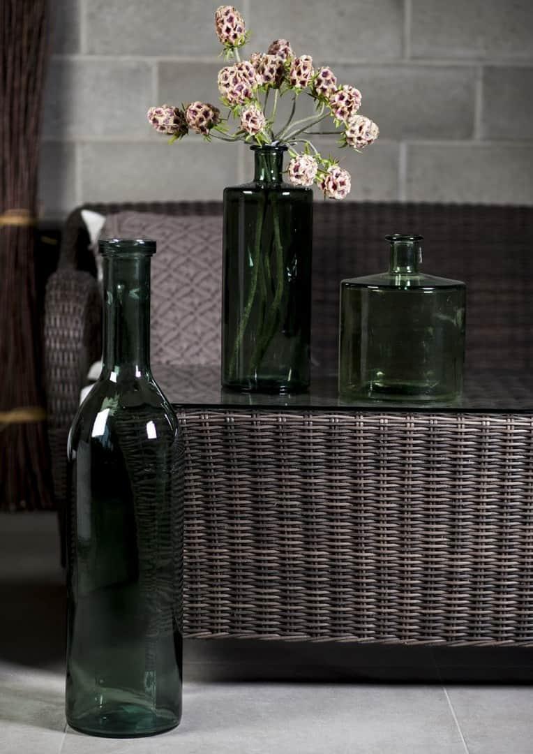 Butelka/naczynie szklane szare 40cm