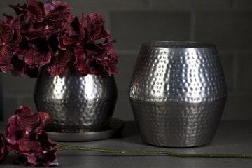 Naczynie stalowe srebrne 24cm