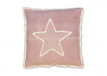 Poduszka dekoracyjna Stella różowa vintage 45cm